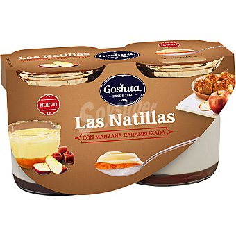 Goshua Natillas con manzana caramelizada pack 2 unidades 125 g
