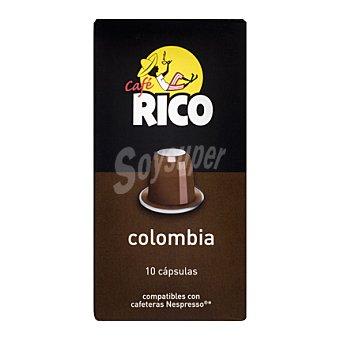 Rico Café Colombia en cápsulas 10 ud