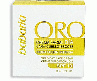 Babaria Crema Facial Hidratante F10 Oro 50 Mililitros