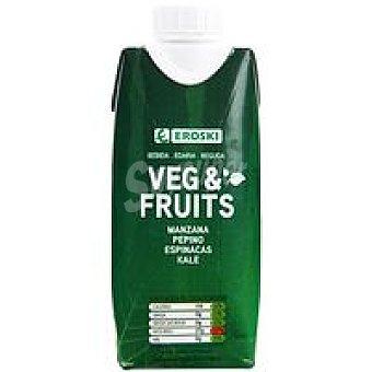 Eroski Zumo fruit&veg manzana-pepino-espinacas kale Brik 33 cl