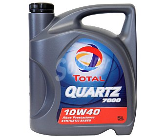 TOTAL Quartz 7000 Aceite sintético para vehículos gasolina y diésel 5 litros