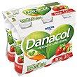 Yogur líquido desnatado de fresa  Pack 6 x 100 g Danacol Danone