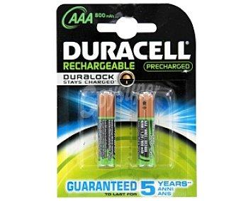Duracell Pilas recargables AAA,HR03 Pack de 2 Unidades