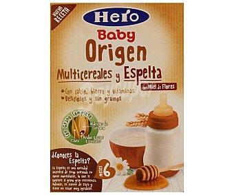 Hero Baby Papilla multicereales y espelta con miel Origen envase 500 g