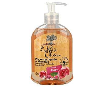 Le Petit Olivier Jabón líquido de manos, realizado con jabón de Marsella con perfume de rosas 300 ml