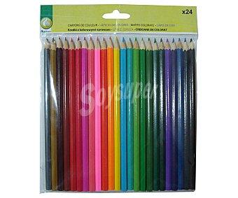 PRODUCTO ECONÓMICO ALCAMPO Blíster de Lápices de Colores de 17,5 Centímetros 24 Unidades