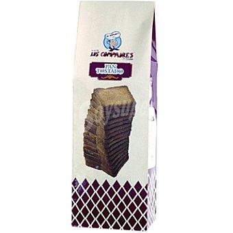 Los Compadres pan de molde tostado Paquete 280 g