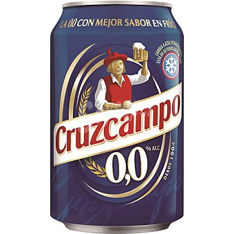 Cruzcampo Cerveza sin alcohol Lata 33 cl
