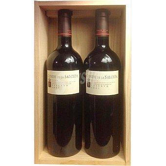 CONDE DE LA SALCEDA vino tinto reserva D.O. Rioja Estuche 2 botellas 75 cl