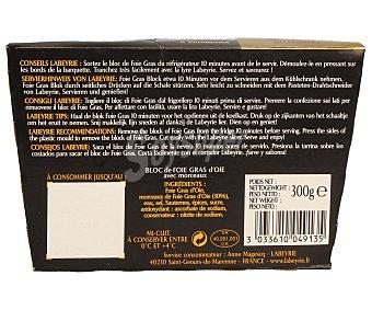 LAABEYRIE Bloc de foie gras de oca con trozos 300 gramos