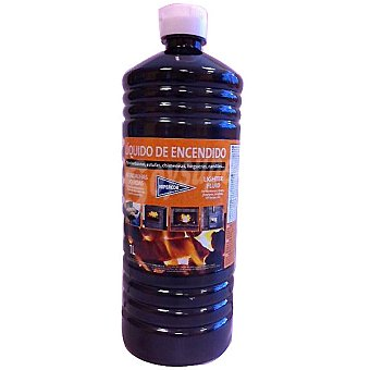 Hipercor Líquido de encendido para barbacoa Botella 1 l
