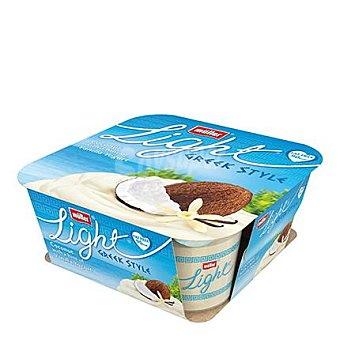 Muller Yogur griego light 0% de coco Pack 4x120 g
