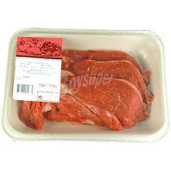 Añojo filetes de 1ª B peso aproximado bandeja 500 g