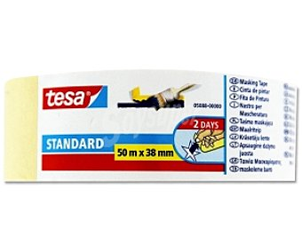 Tesa Cinta pintor standard para perfiles rectos 38mm x 50 Metros