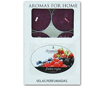 Aromático Velas calientaplatos o tealights perfumadas con olor a frutos rojos Pack de 6 Unidades
