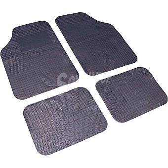 ALFA 60665 Juego de alfombras universal de goma para automóvil 4 piezas