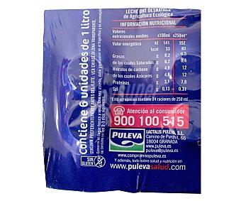 Puleva Leche desnatada ecológica Pack 6 Unidades de 1 Litro