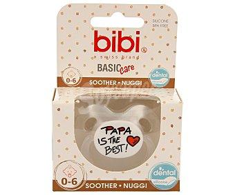 Bibi Chupete anatómico de silicona para bebés de 0 a 6 meses 1 unidad