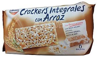 GALBUSERA Crackers integrales con arroz  Paquete de 228 g