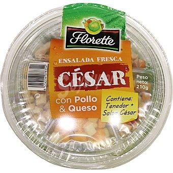 FLORETTE Ensalada César con pollo & queso (contiene tenedor + salsa César)  tarrina 208 g