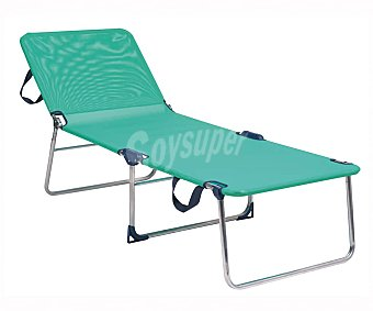 Alco Cama plegable para camping y playa. Fabricada en aluminio y textileno en toda la superficies, medidas: 191x67x42 ALCO.
