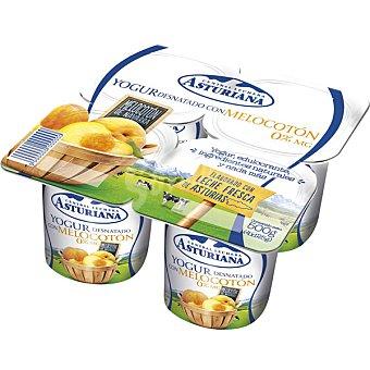 Central Lechera Asturiana Yogur desnatado con trozos de melocotón Pack 4x125 g