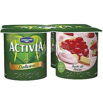 Activia Danone Yogur sabor tarta de fresa Pack 4 unidades 125 g