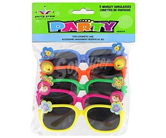 Party Gafas surtidas cotillón 5 unidades