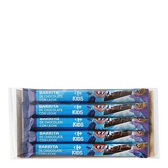 Carrefour Kids Barrita de chocolate con leche 5 ud