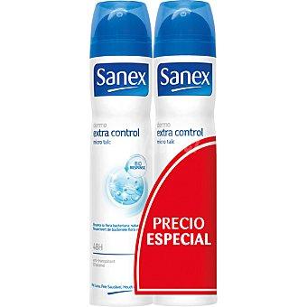 Sanex Desodorante dermo extra control pack 2 spray 200 ml Pack 2 spray 200 ml
