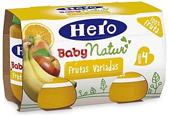 Hero Baby Tarrito frutas variadas Pack 2x130 g