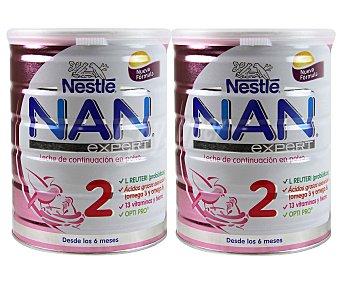NAN Expert Leche de continuación en polvo 2, a partir de 6 meses 2 x 800 gramos