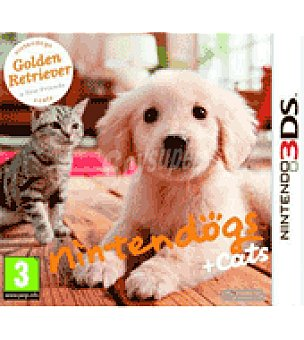 Nintendo Juego 3DS dogs+gatos golden nintendo