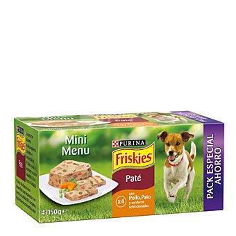 Friskies Purina Comida para perro Mini Menu pack Pack 4x150 gr
