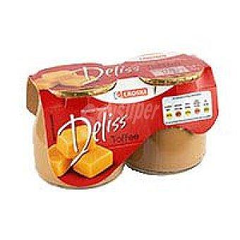 Eroski Postre lácteo de toffe Pack 2x135 g