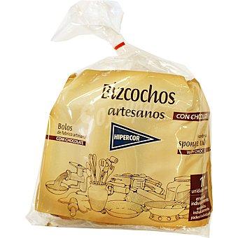 Hipercor Bizcochos artesanos con chocolate bolsa 250 g 10 unidades envasadas individualmente Bolsa 250 g 10 unidades