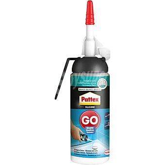 Pattex Go silicona color blanco para baños y cocinas resistente al moho Spray 100 ml