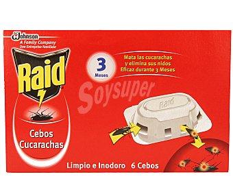 Raid Cebo cucarachas Caja 6 unid