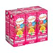 Frutas+leche tropical (brick rosa) Pack 6 x 200 ml - 1200 ml Hacendado