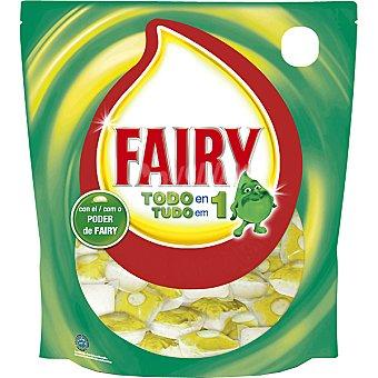 FAIRY Ultra Caps Detergente lavavajillas todo en 1 limón Envase 42 pastillas