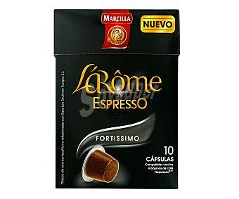 L'Arôme Espresso Marcilla Café Fortissimo Cápsulas L'Arôme Espresso - Intensidad 10  10 ud.