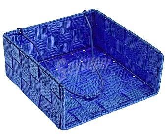 QUO Servilletero cuadrado de nylon color azul, QUO