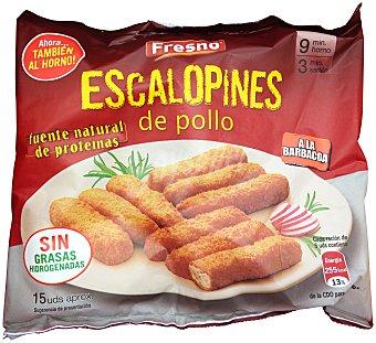 Fresno Escalopines pollo barbacoa congelado Paquete 320 g