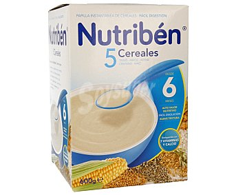 Nutribén Papilla 5 cereales 600 g