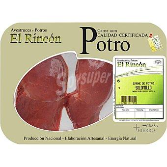 RINCON Solomillo de potro peso aproximado bandeja 200 g 2 unidades