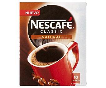 Nescafé Café soluble Classic estuche 10 sobres 10 sobres (20 gramos)