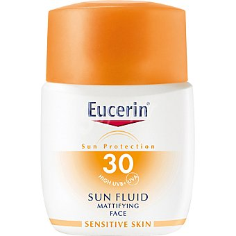 Eucerin Sun protector solar facial en textura fluido SPF 30+ para la piel sensible Frasco 50 ml