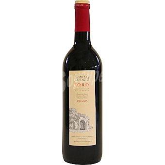 QUINTA EL REFUGIO Vino tinto crianza D.O. Toro elaborado para grupo El Corte Inglés Botella 75 cl
