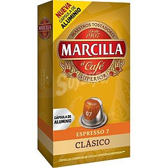 Marcilla Café monodosis sabor suave (intensidad 7) 10 Unidades