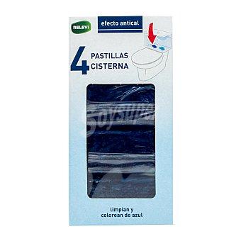 Relevi Pastilla cisterna wc azul Pack 4 u - 200 g